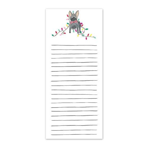 Frenchie Holiday Listpad