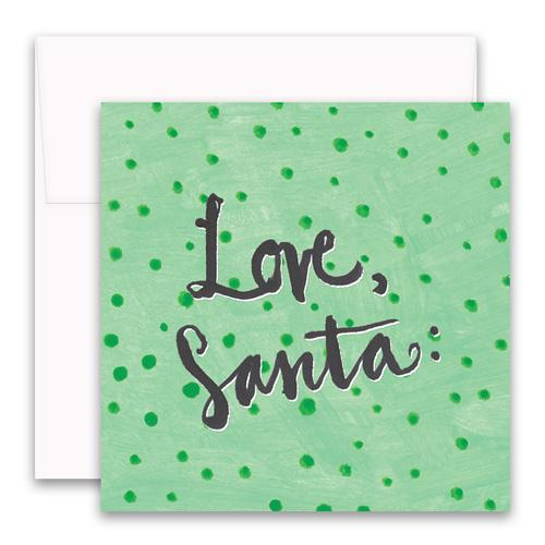 Love Santa Enclosure Card