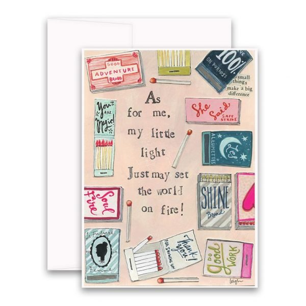 World on Fire Greeting Card