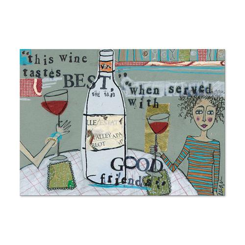 Wine Tastes Best (Classic) Canvas