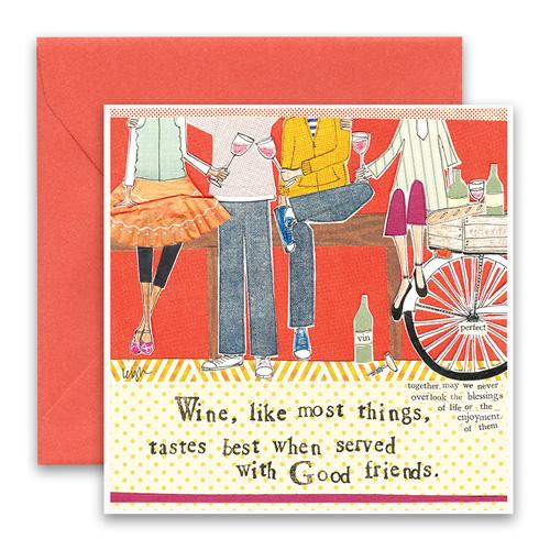 Wine With Friends Greeting Card
