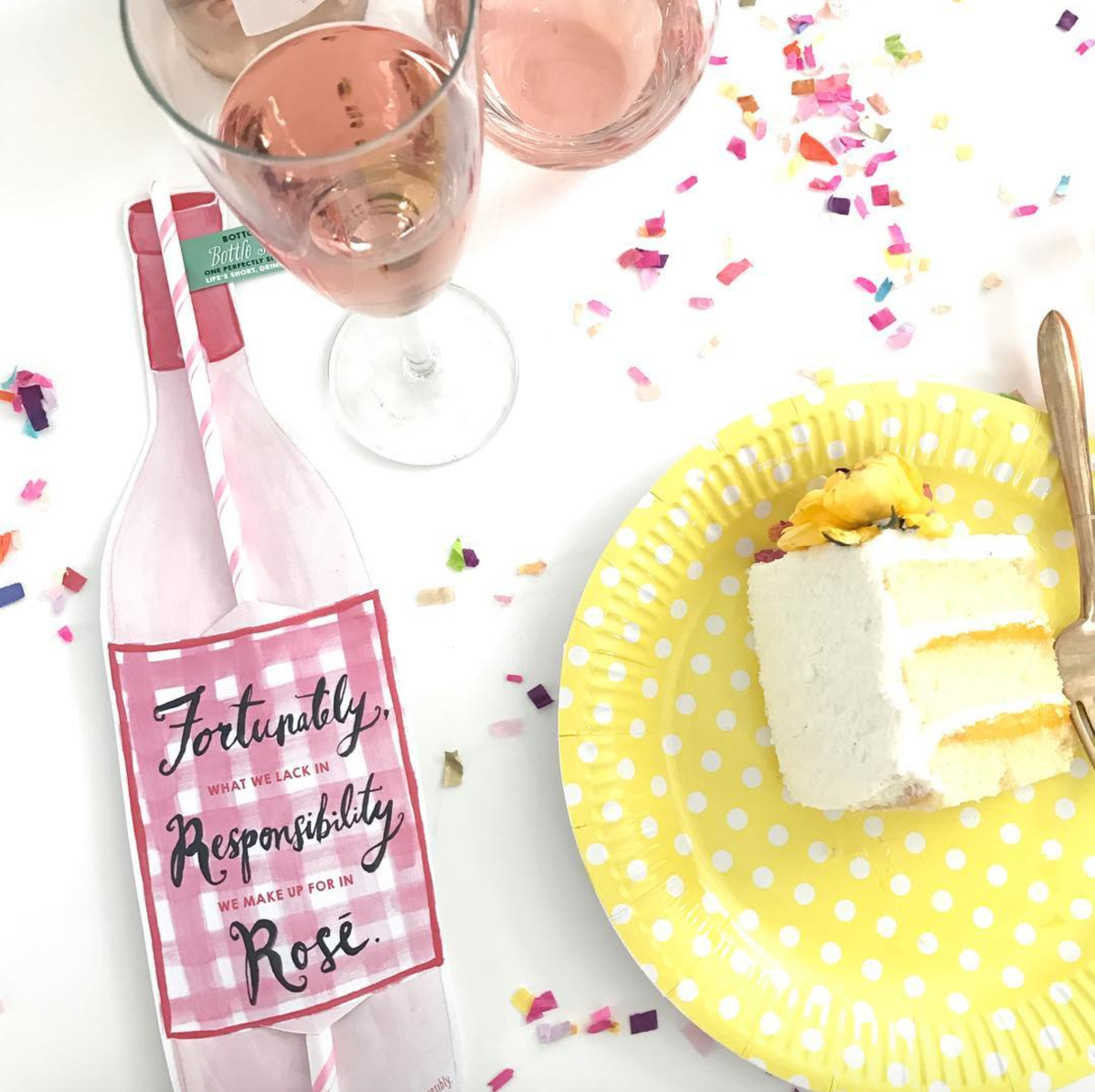 Rose Wine Straw Pack