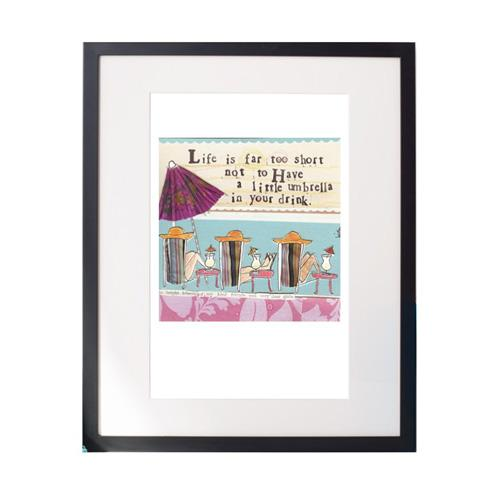 Umbrella Matted Print