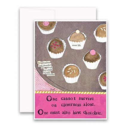 Cleverness Alone Greeting Card