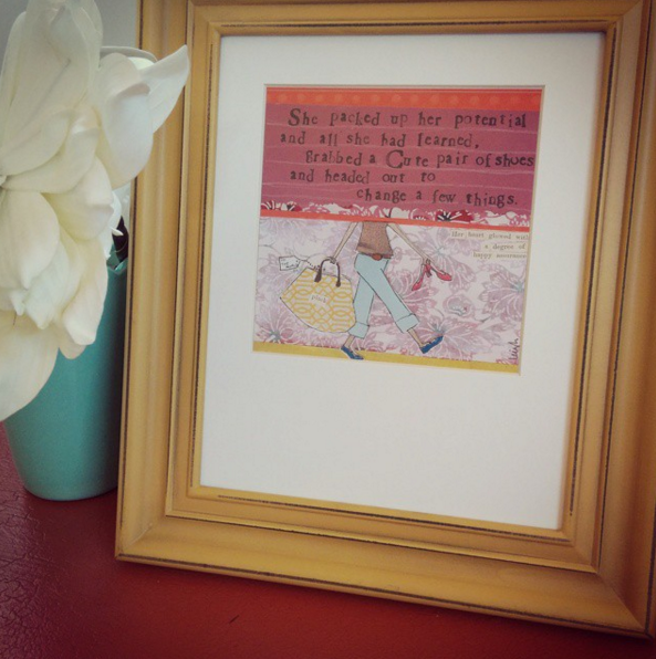 Feathers Matted Print