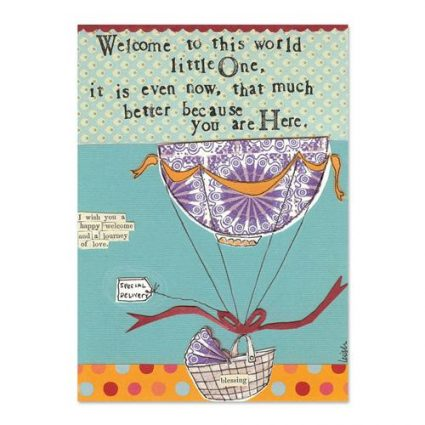 Welcome To The World Canvas