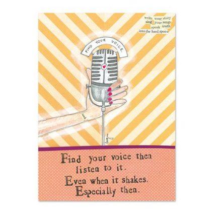 Find Your Voice Mini Canvas