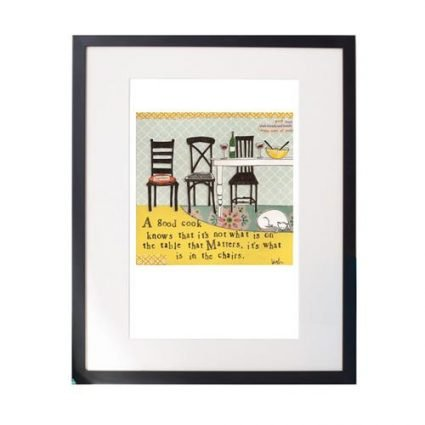 In The Chairs Matted Print