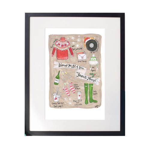 Favorite Things Matted Print