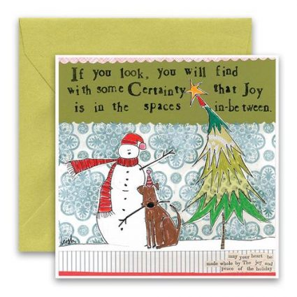 Spaces In-Between Holiday Card