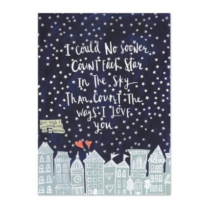 Count All The Stars Mini Canvas