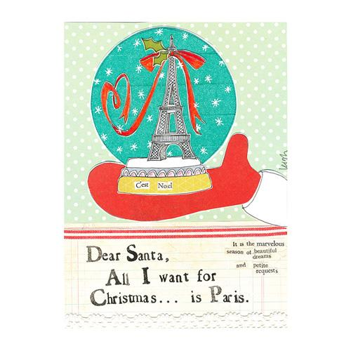 Christmas In Paris Canvas