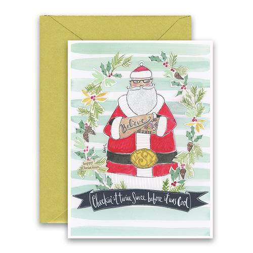 Hipster Santa Holiday Card