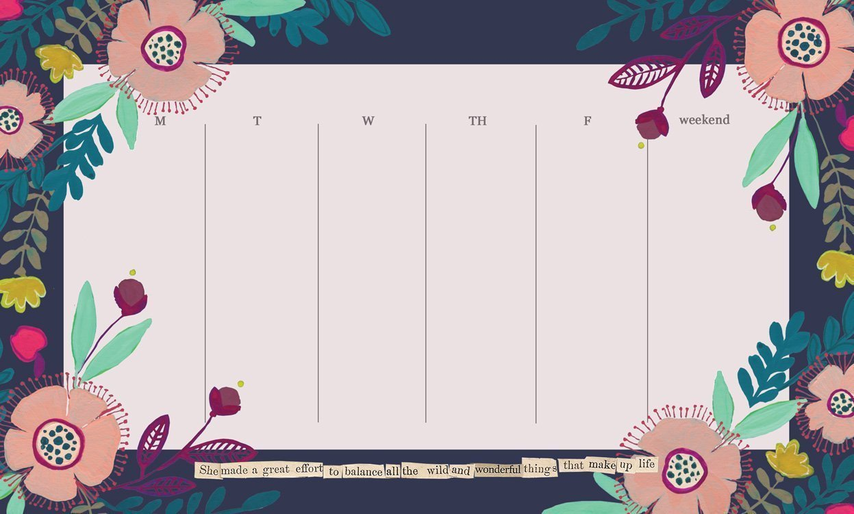 Wild And Wonderful Weekly Pad