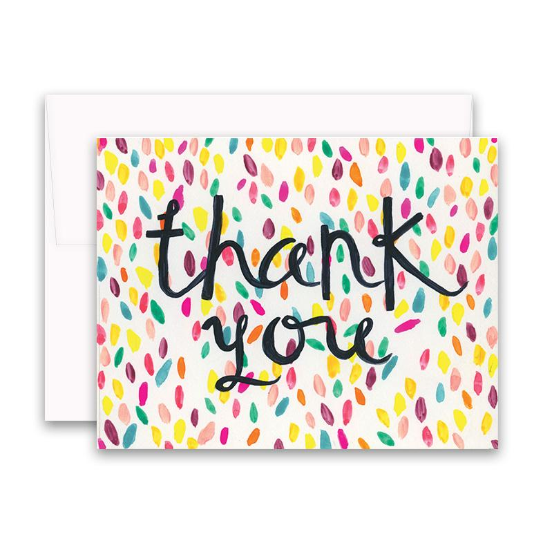 Confetti Thank You Box Of 6