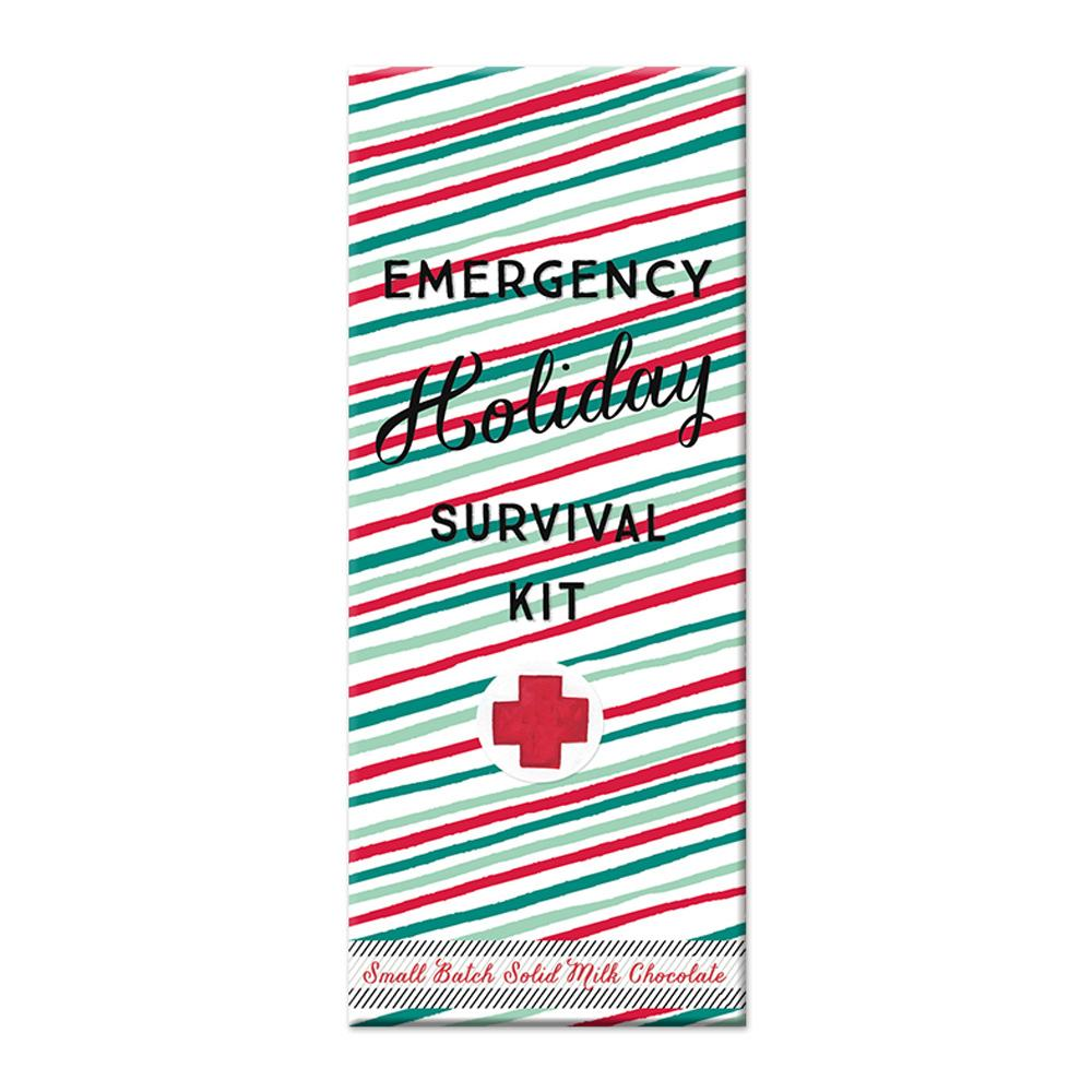 Holiday Survival Kit Chocolate Bar