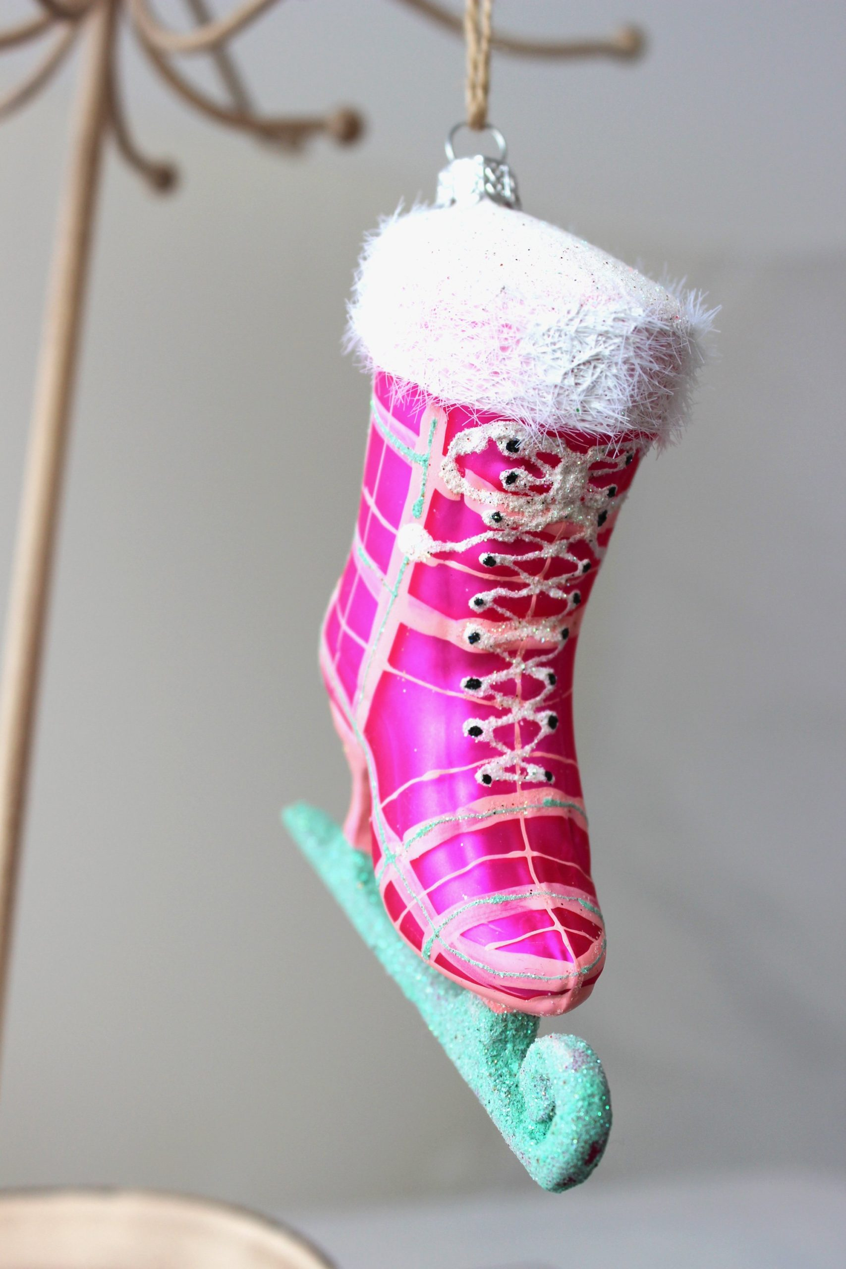 Ice Skating in the Park Ornament (Pink) SALE Half Off Holiday