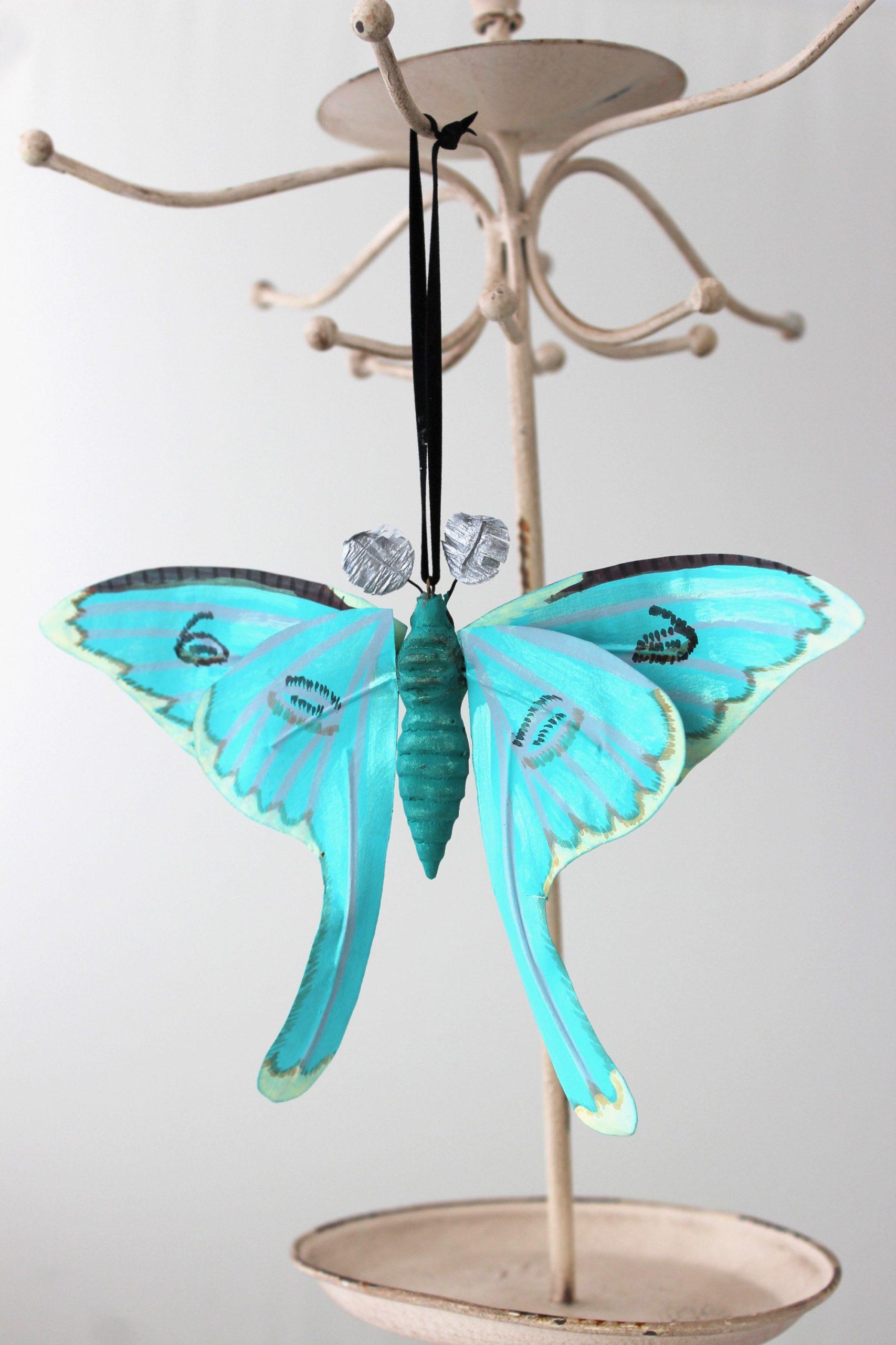 Luna Moth Ornament SALE Half Off Holiday