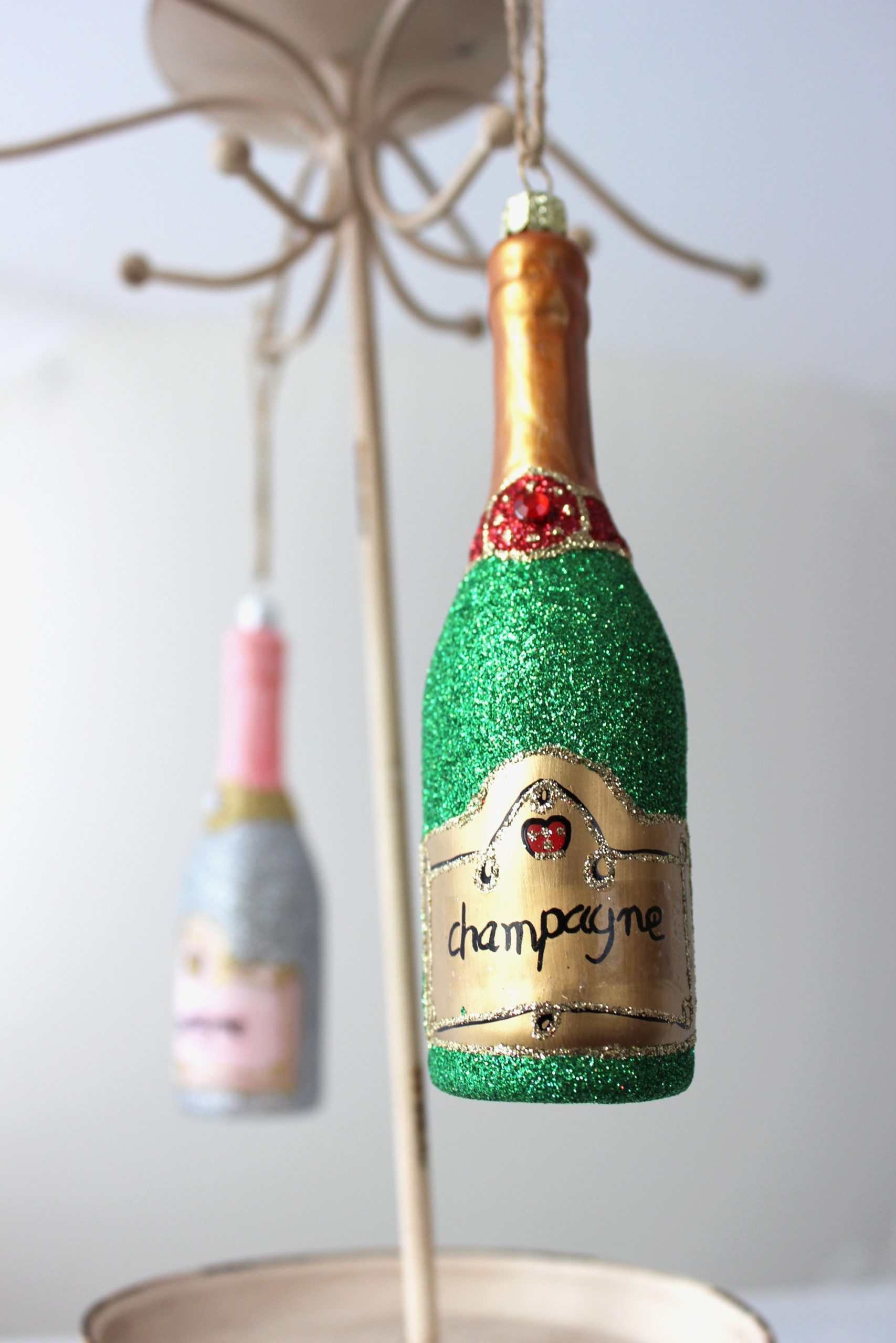 Bottle of Bubbly Ornament - Classic SALE Half Off Holiday