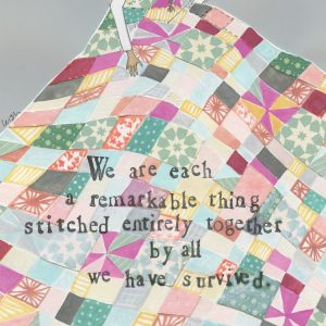 Stitched Together Mini Canvas