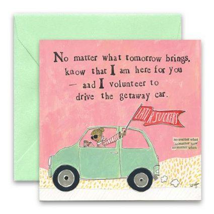 Getaway Car Greeting Card