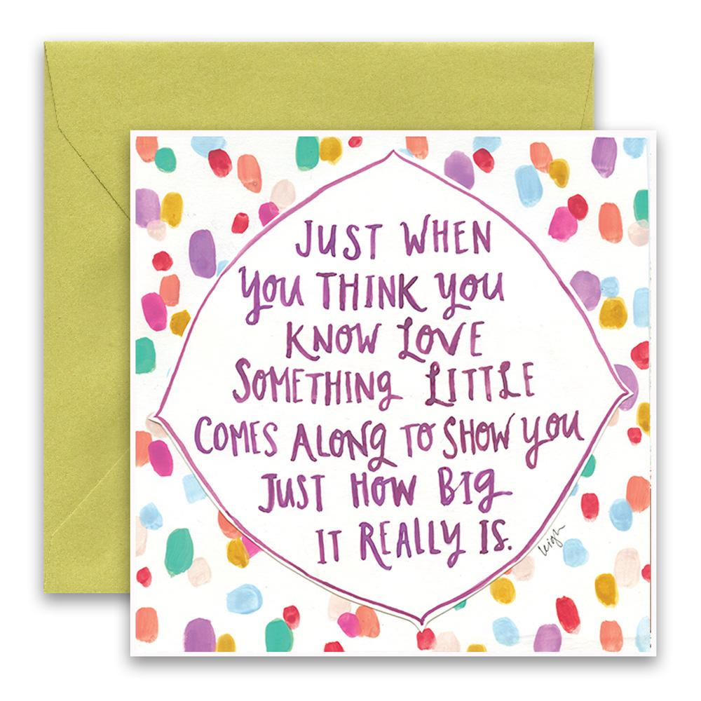 Know Love Greeting Card