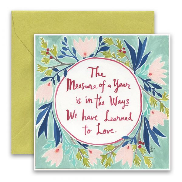 Measure a Year Greeting Card