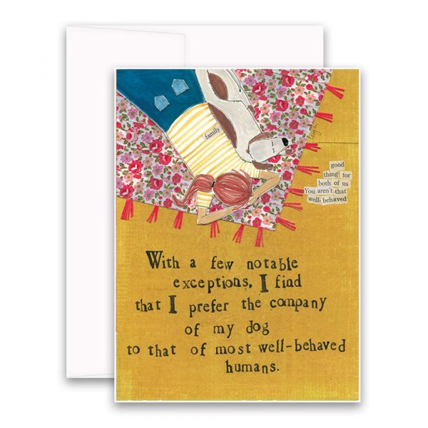 Company of a Dog Greeting Card