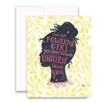 Universe Girl Greeting Card