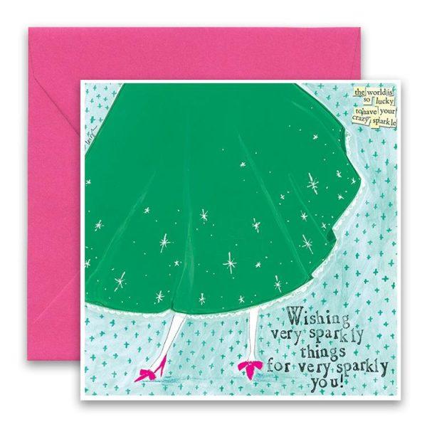 Crazy Sparkle Greeting Card