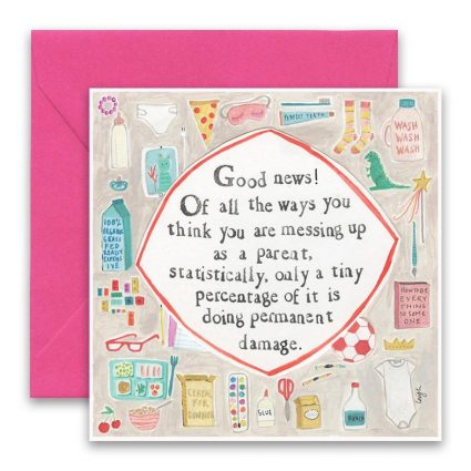 Messing Up Greeting Card