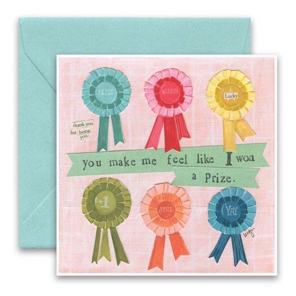 Won A Prize Greeting Card
