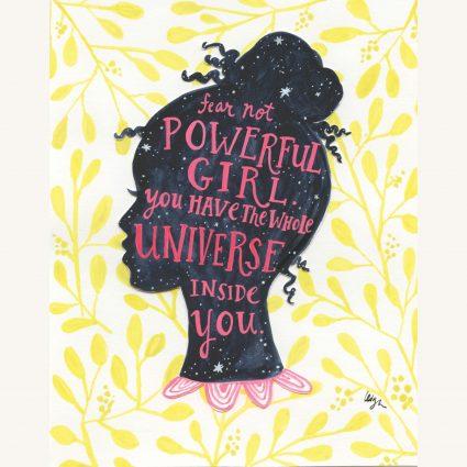 Universe Girl Mini Canvas