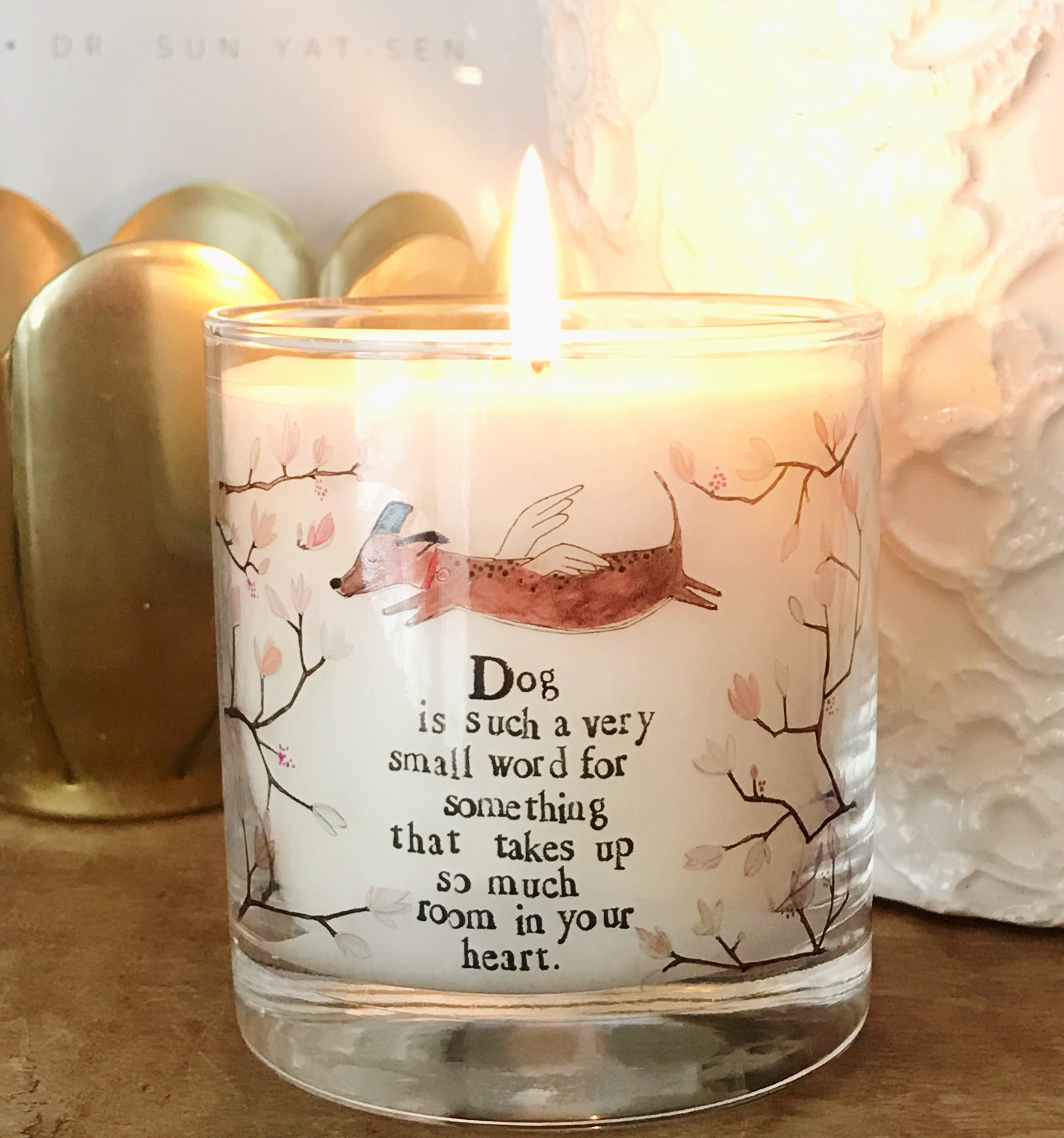 Dog is a Small Word Candle