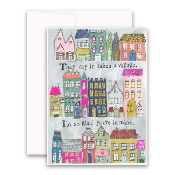 Takes a Village Greeting Card