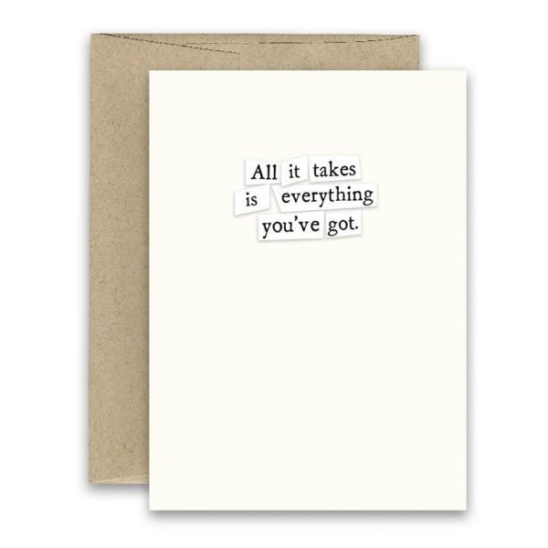 All It Takes' Simply Put ' Card