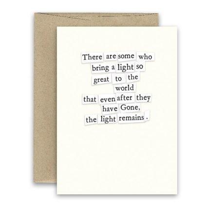 Light Remains ' Simply Put ' Card