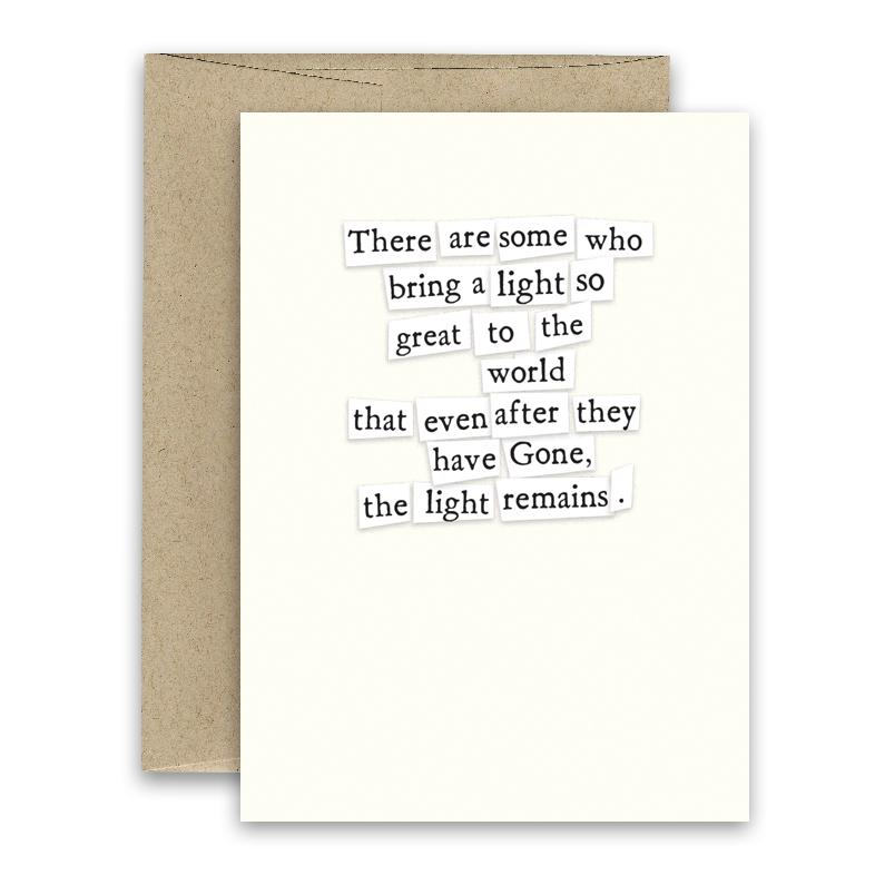 Light Remains ' Simply Put ' Card