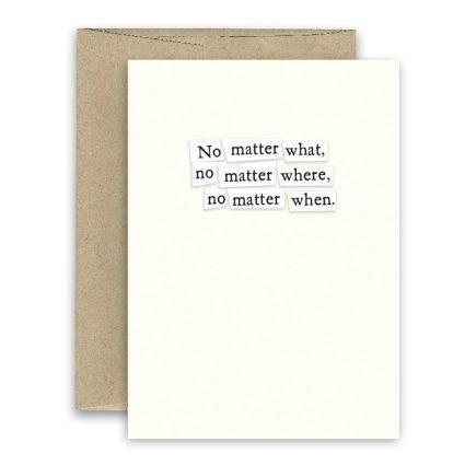 No Matter' Simply Put ' Card