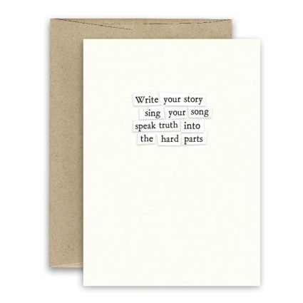 Write Your Story ' Simply Put ' Card