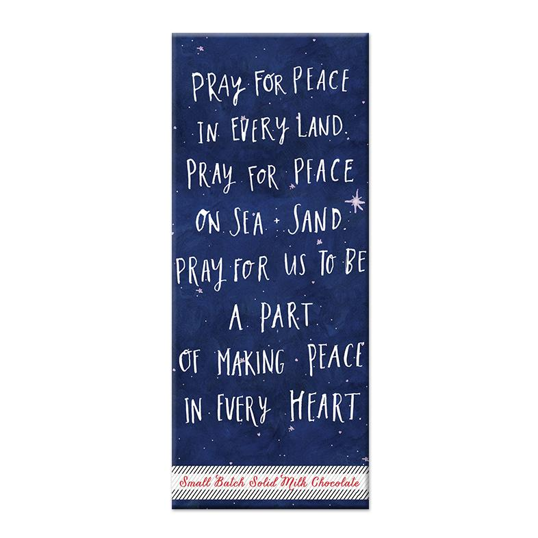Pray for Peace Chocolate Bar