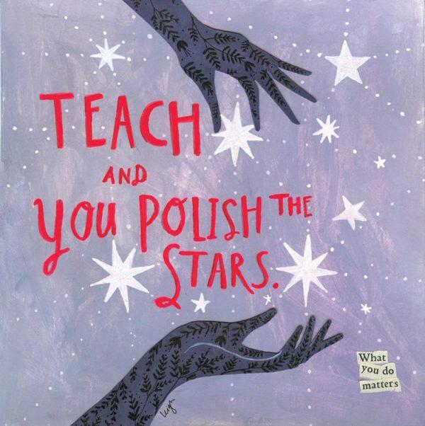 Polish the Stars Canvas