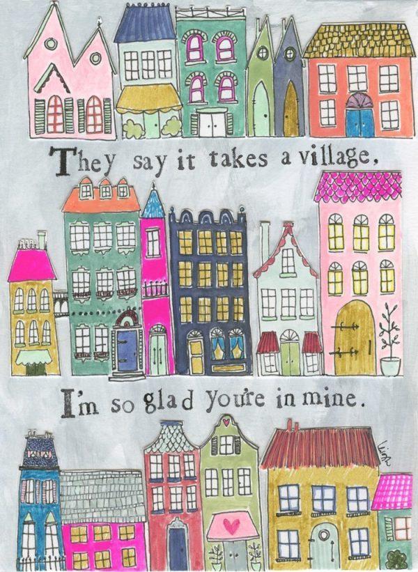 Takes a Village Canvas