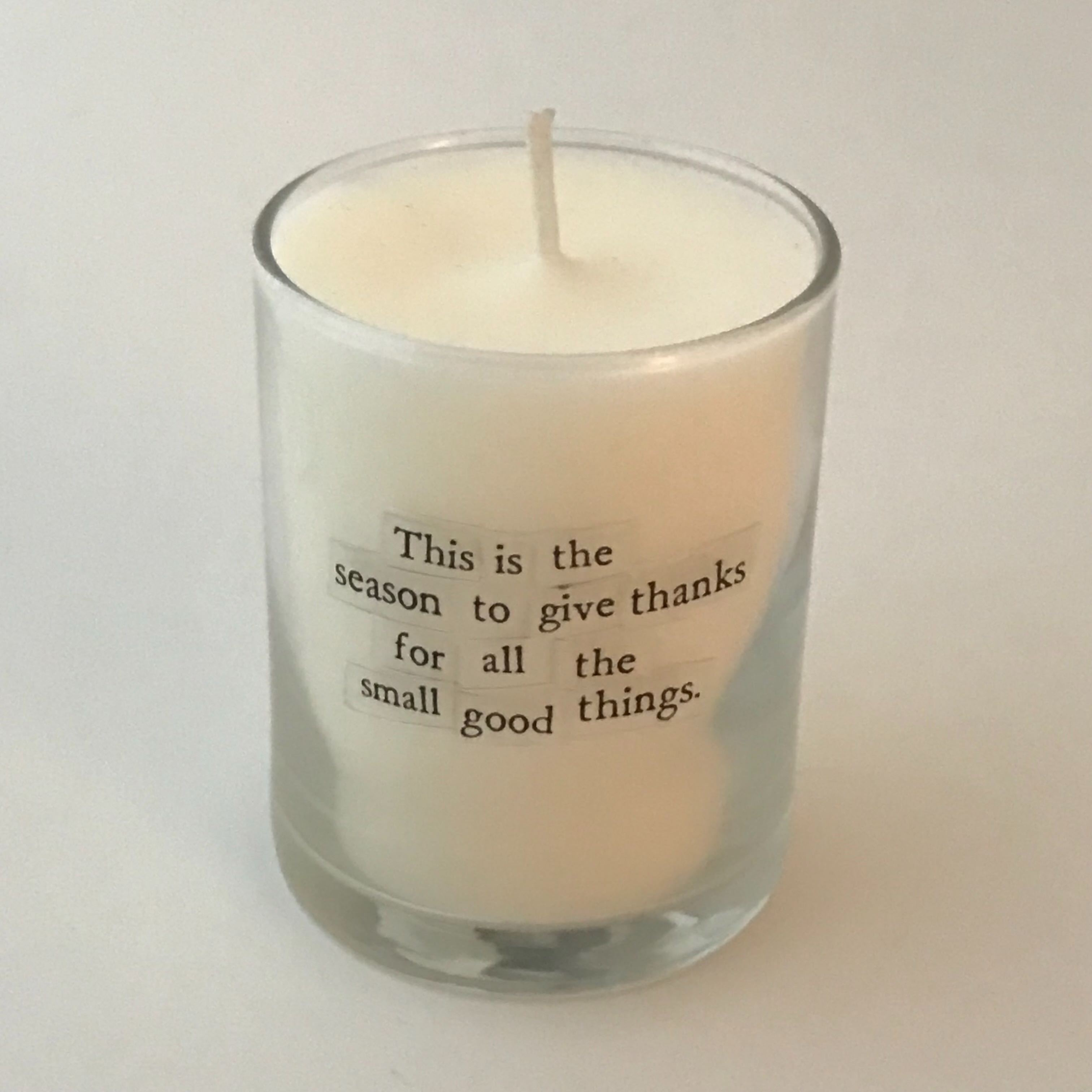 Season to Give Thanks Mini Candle