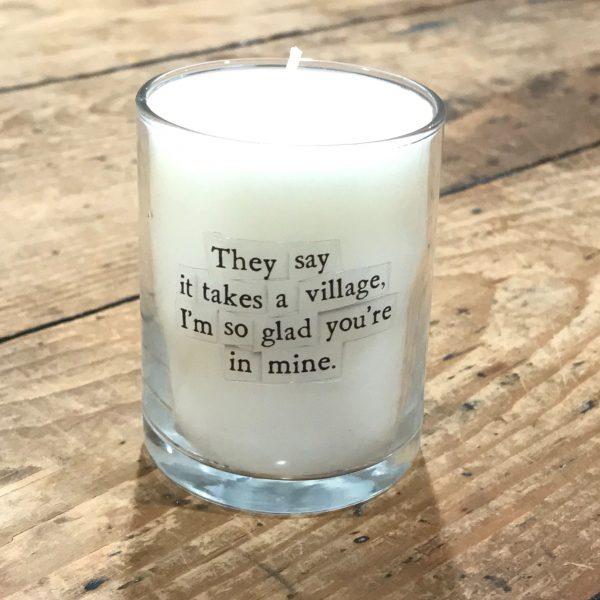 Takes a Village Mini Candle