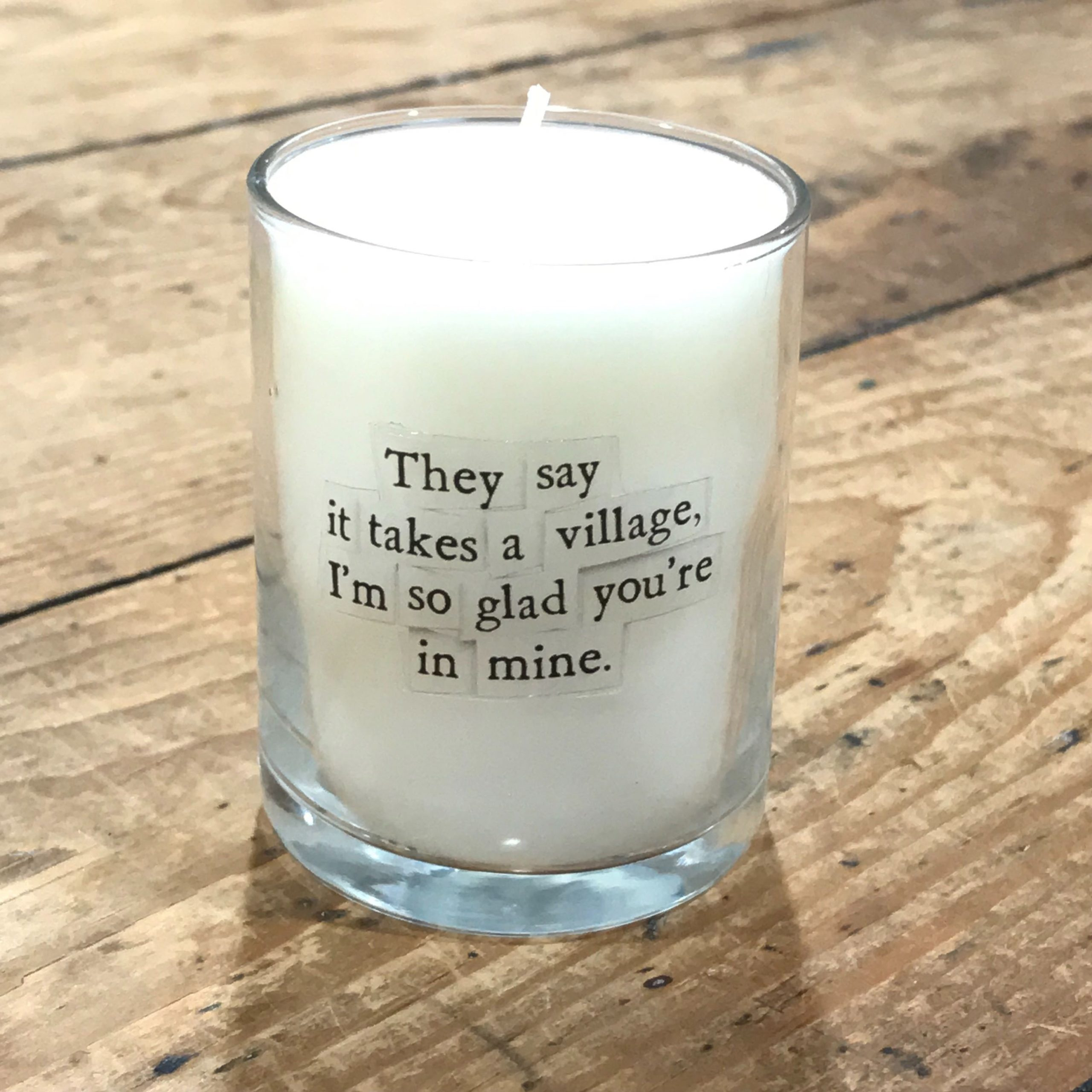 Takes a Village Mini Candle