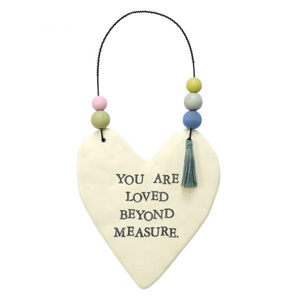 You Are Love Ceramic Heart