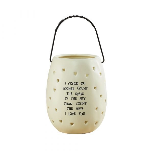 I Love You Lantern Ceramic Gift