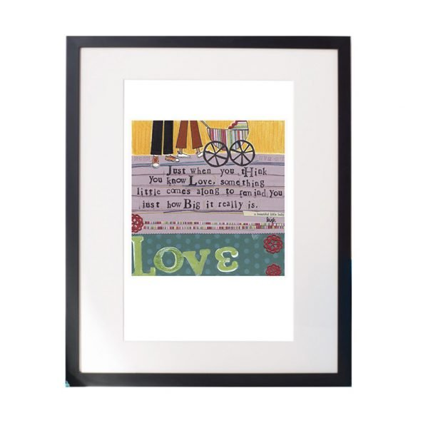 Baby Love Matted Print