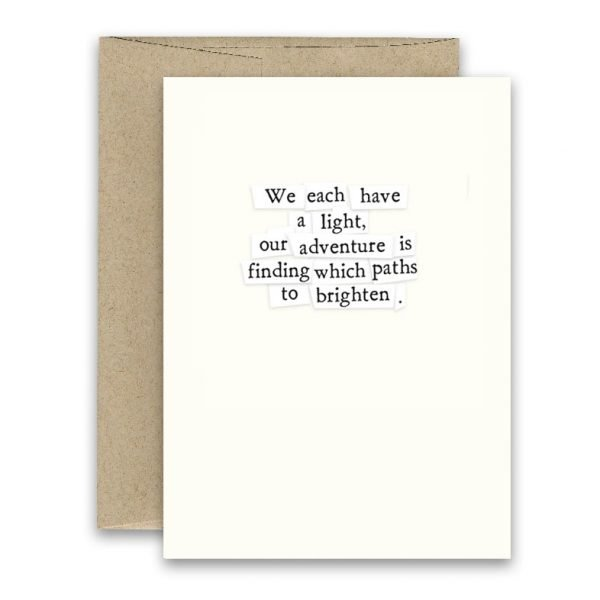 Paths to Brighten ' Simply Put ' Card